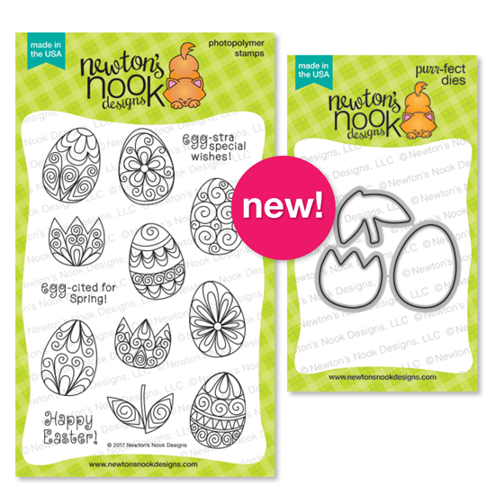Quilled Easter Eggs and Tulips | Beautiful Spring stamp set by Newton's Nook Designs #newtonsnook
