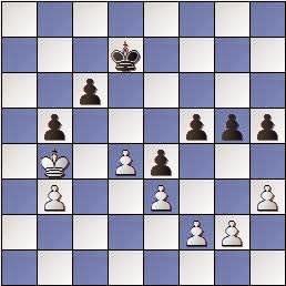 Estudio de Francesc Vivas Font, SEPA 162/3 1954, blancas juegan y ganan