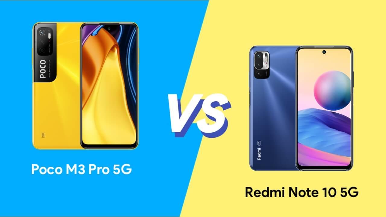 Redmi Note 10 5G vs Poco M3 Pro 5G
