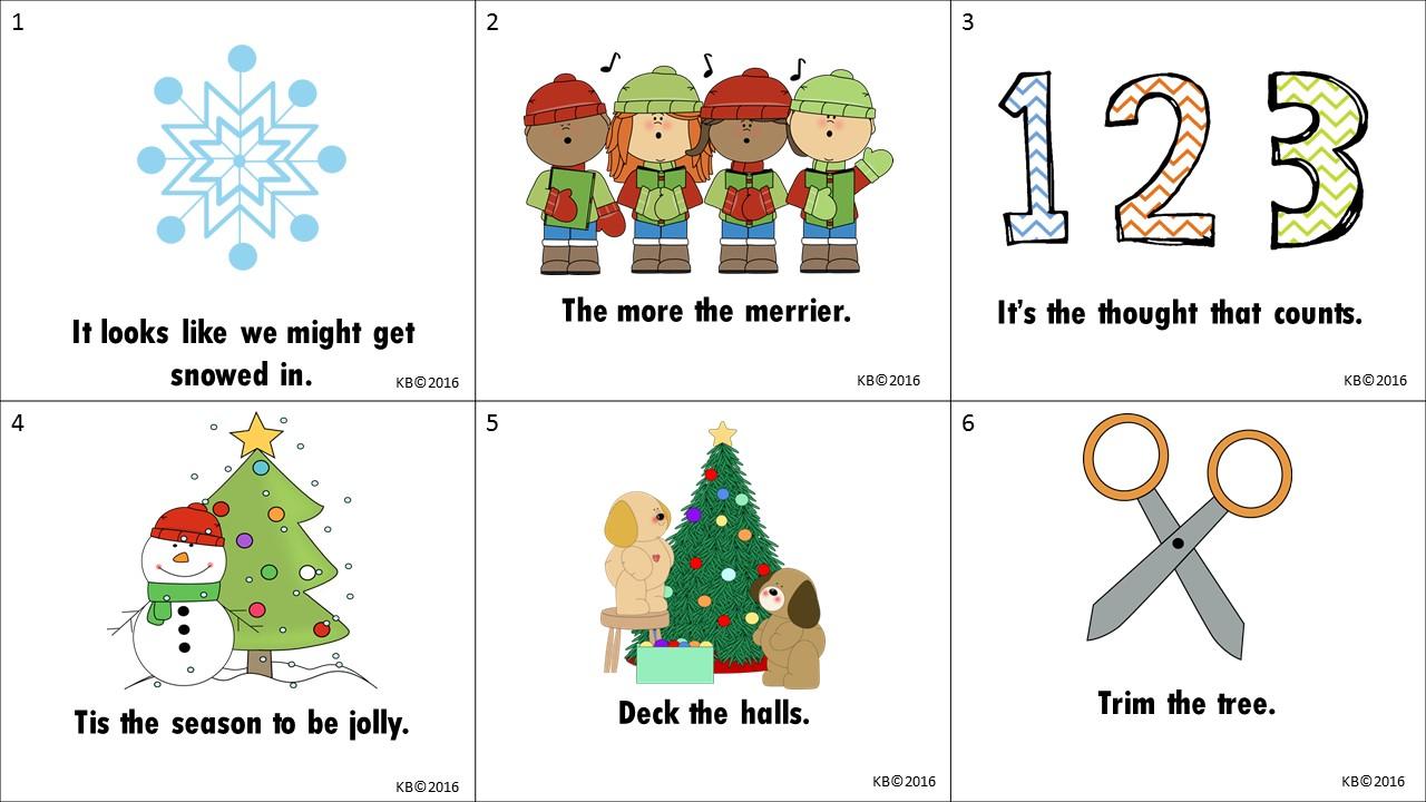 hight resolution of The Best of Teacher Entrepreneurs: FREE LANGUAGE ARTS LESSON - \Christmas  Idioms Freebie\