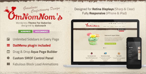 themeforest Responsive WP Restaurant theme