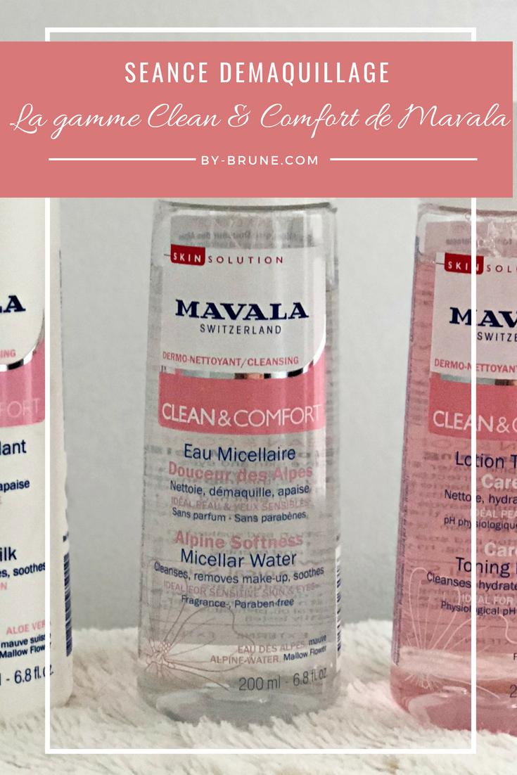 Trois produits Mavala sont sur le banc d'essai. Ce sont les produits de la gamme Clean &  Comfort.