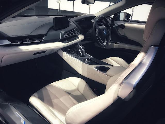 Blue BMW i8 Hybrid