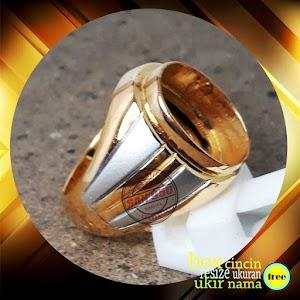 cincin pria perak lapis emas