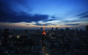 Wallpaper: Urban scenery with Tokyo Tower
