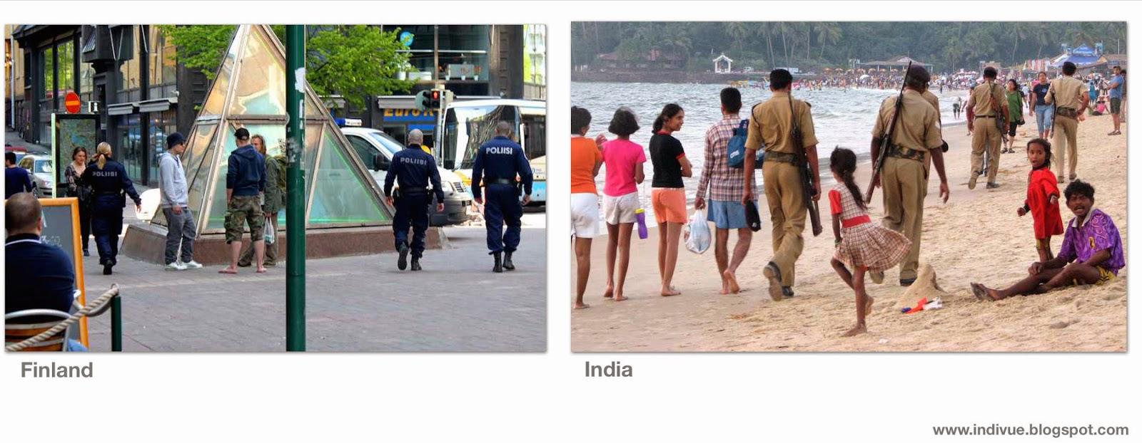 Suomalainen ja intialainen poliisi