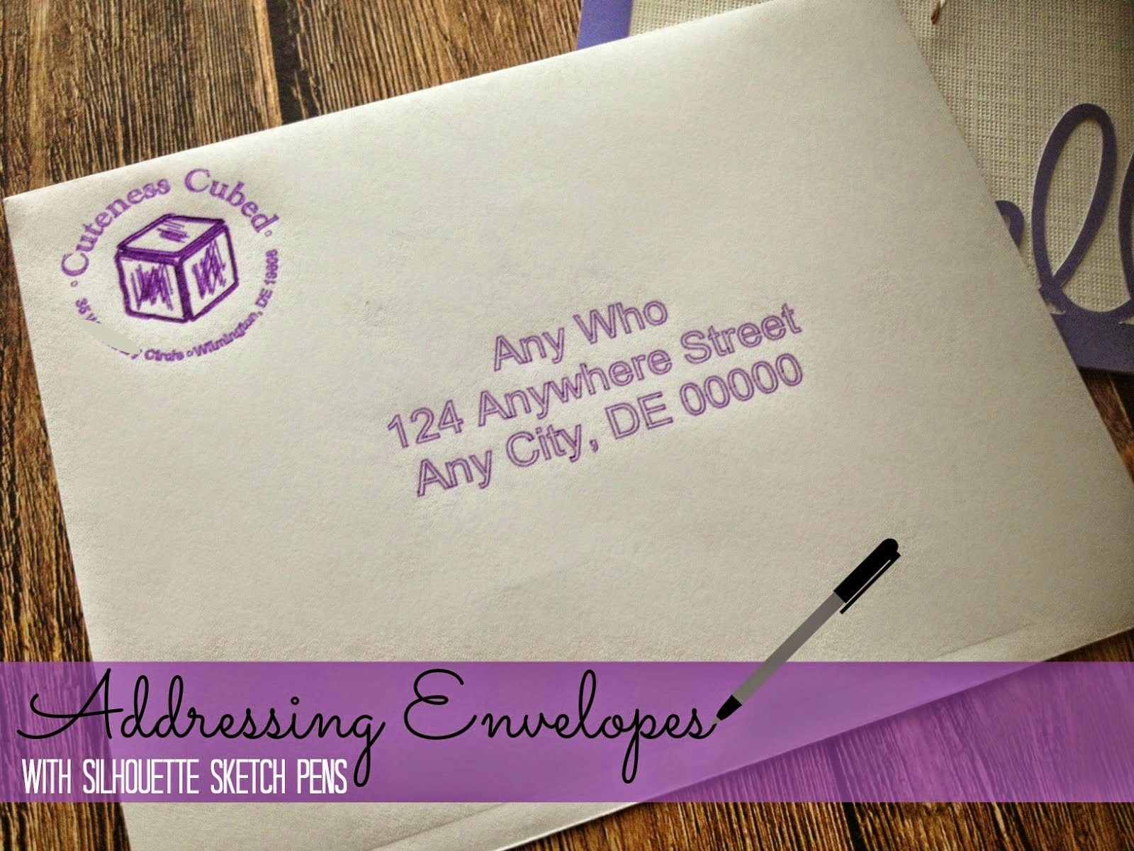 Envelopes, Silhouette sketch pens, addressing, Silhouette tutorial, Silhouette Studio