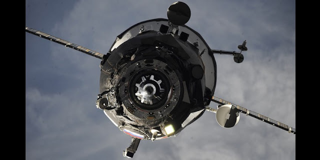 The undocked Progress MS-06 spacecraft. Photo Credit: Roscosmos