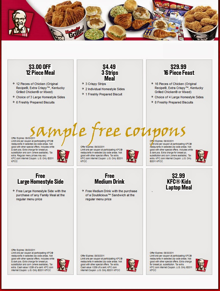2013 Kentucky Printable Chicken Fried Coupons