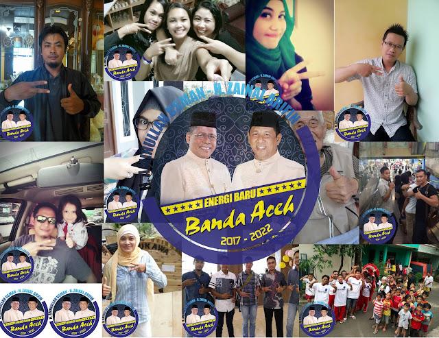 Aksi Foto Selfie Dua Jari untuk Aminullah-Zainal Menarik Perhatian Setiap Kalangan