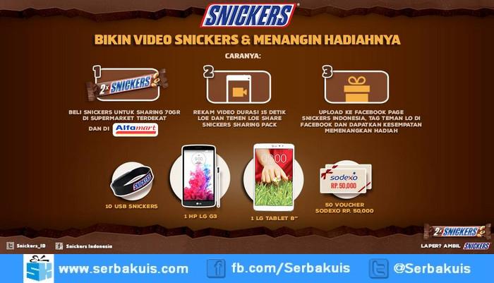 """Kontes Video Snickers Sharing Berhadiah LG Tablet 8"""""""