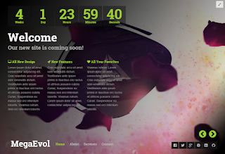 MegaEvol Blogger Template