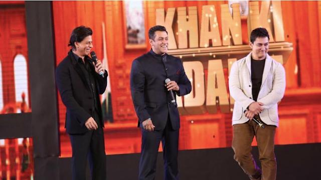 Shah Rukh Khan, Salman Khan and Aamir Khan Meet At Mannat
