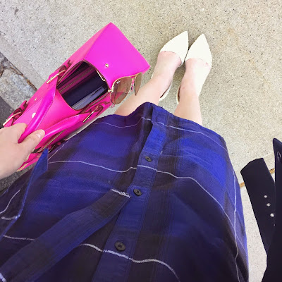 gap plaid dress, boston blogger, style blog in boston, kate spade satchel