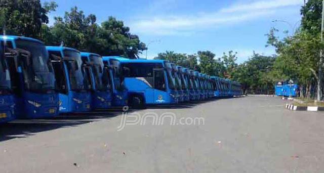 Miris! Puluhan Unit Bus Hibah dari Kemenhub Dibiarkan Mangkrak