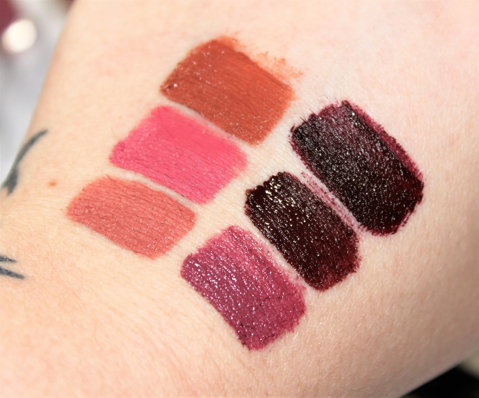 Pur Liquid Lipstick Swatches