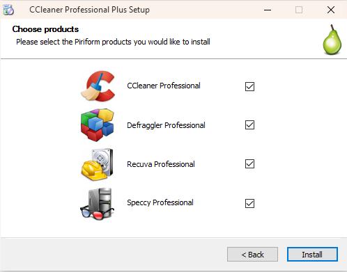 Setup CCleaner Professional Plus
