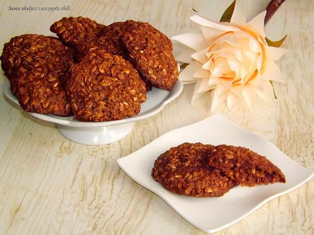 Kakaowe ciasteczka owsiano - jaglane.