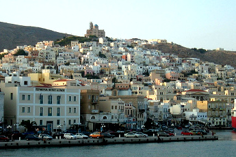 Vistas de Siros - Islas Griegas