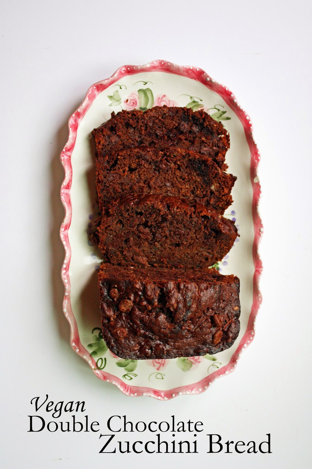 vegan double chocolate zucchini bread