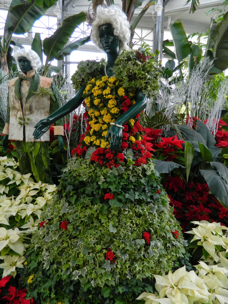 Floral statue lady  Allan Gardens Conservatory Christmas Flower Show 2014 by garden muses-not another Toronto gardening blog