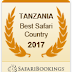 TANZANIA RATED AFRICAN'S BEST SAFARI COUNTRY OF 2017