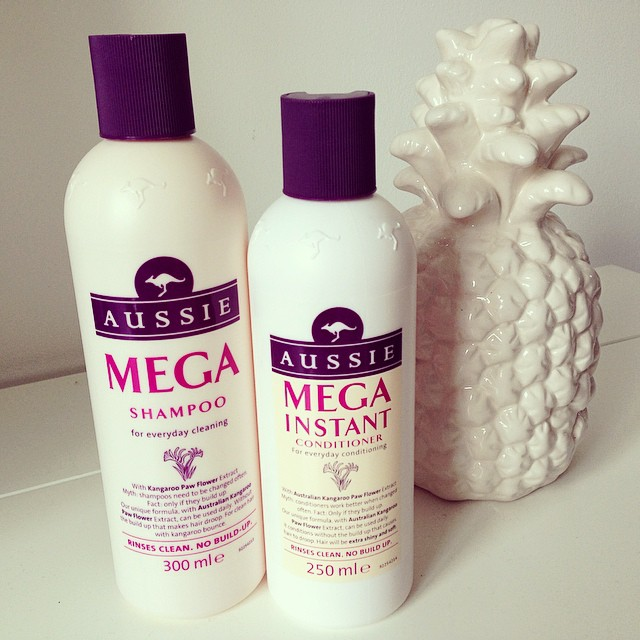 Aussie haircare mega shampoo and conditioner