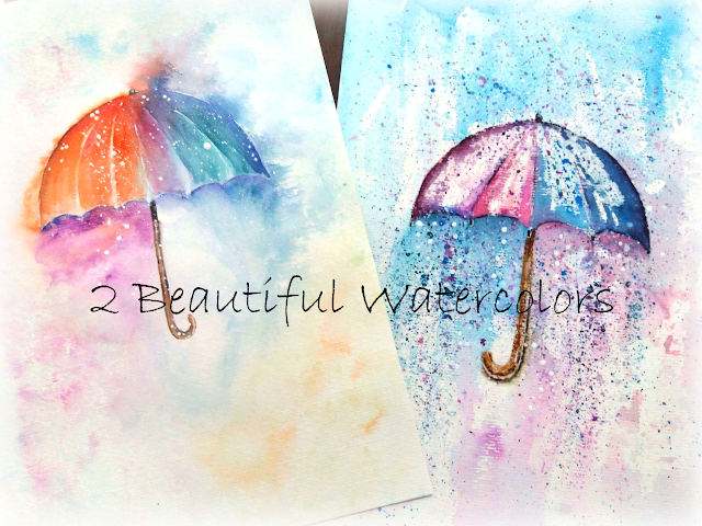 Umbrella Watercolor Painting