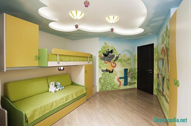 New pop ceiling designs for kids room 2019, false ceiling design ideas