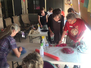 Private Felting Class (Vessels & Votives). Photo by Mike Buchheit.