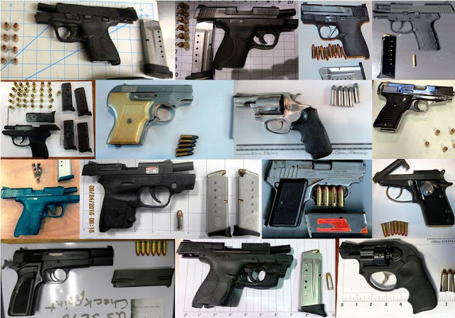 64 firearms discovered