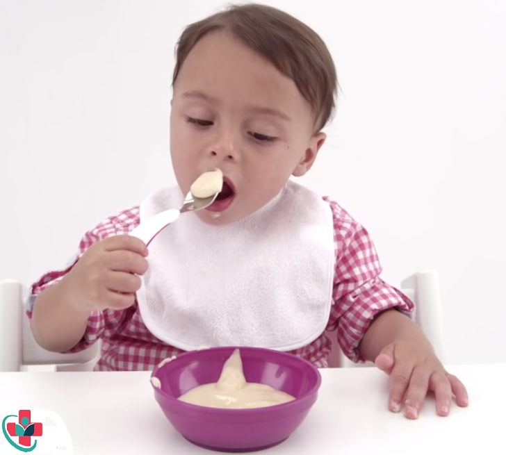 Plain, natural yogurt is great for kids
