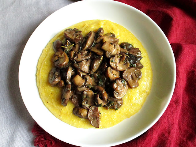Creamy Polenta with Saut�ed Mixed Mushrooms