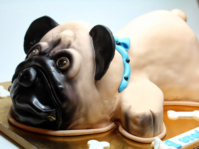 3D Pug Birthday Cake - Best Birthday Cakes in London