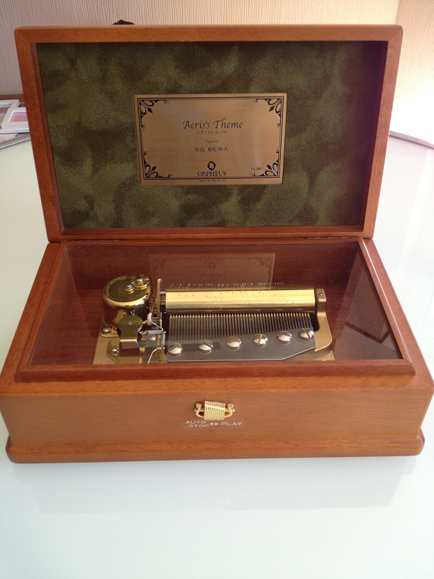 music box final fantasy sankyo boxes japan 1000 say different were vii rare orpheus produced sources finished pieces