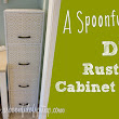 Refinishing a rusty file cabinet