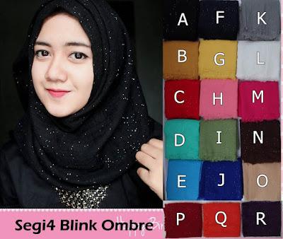 Model Jilbab Terbaru Segiempat Blink Ombre