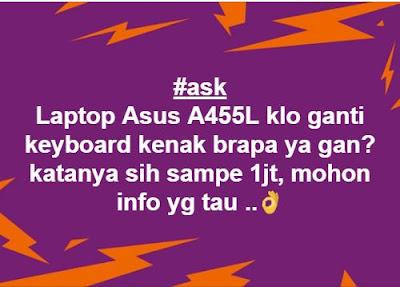 Harga Ganti Keybord Laptop