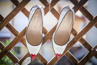 Zapatos de novia decorados