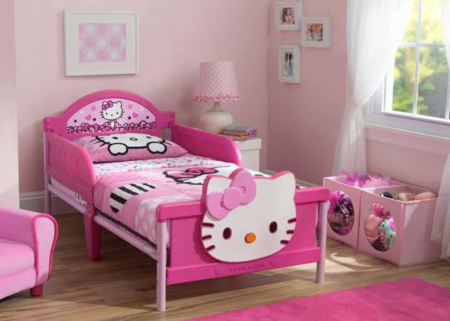 Trang tri phong ngu Hello Kitty dep 22