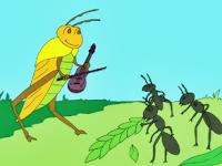 Kisah Semut dan Belalang | Dongeng Anak Dunia