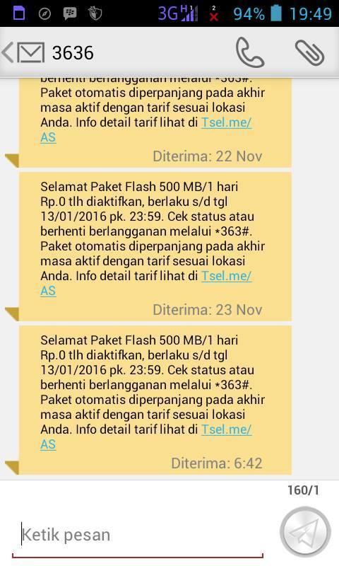 Cara Mendaftar Paket Promo Nol Rupiah Kuota  Cara Daftar Paket Promo Telkomsel Rp.0 Kuota 500MB/Hari