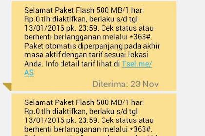 Cara Daftar Paket Promo Telkomsel Rp.0 Kuota 500Mb/Hari