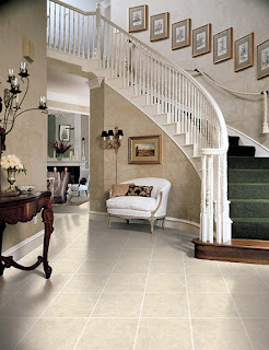 A tile entryway floor is easy to clean, durable and beautiful.