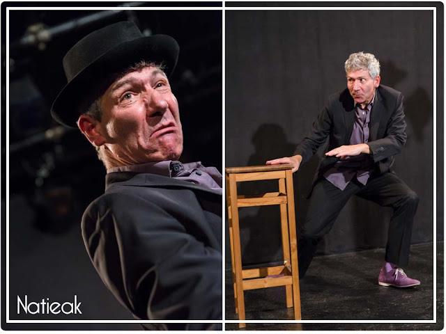 Laurent Balaÿ dans la pièce De l'air au théâtre Menilmontant