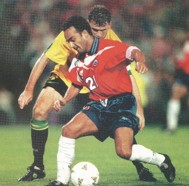 Australia y Chile en partido amistoso, 7 de febrero de 1998