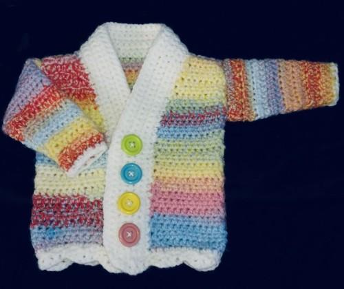Crochet Cutie Baby Cardigan - Free Pattern