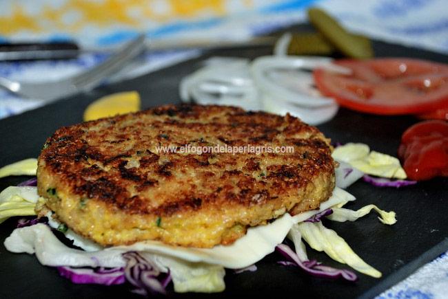 Recetas con quinoa. Hamburguesa de quinoa y pescado