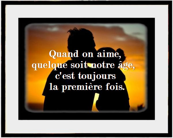Citation age et amour en image