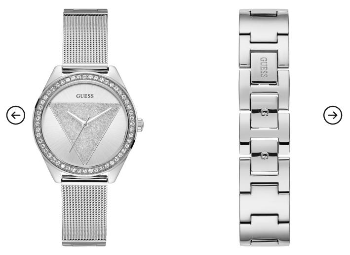 Ceas femei elegant argintiu modern Guess Jeans W1142L1